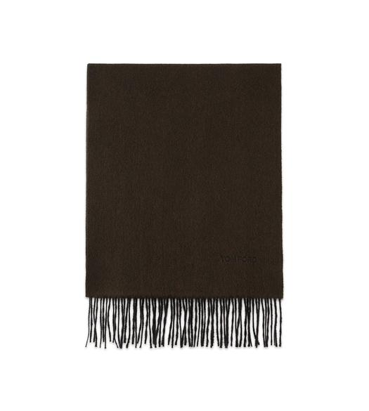 OLIVE CASHMERE SCARF