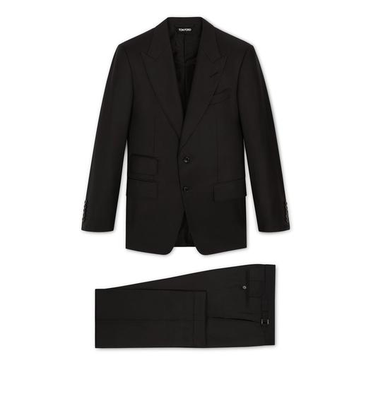 THREE-PIECE WINDSOR PEAK LAPEL SUIT