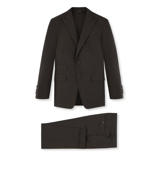 BROWN FRESCO MOULINE O'CONNOR THREE PIECE SUIT