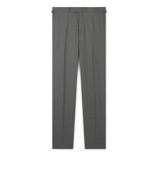 GREY TWILL TAILORED CLASSIC PANTS