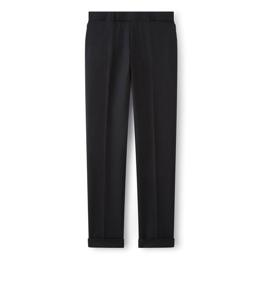 BLACK SLIM FIT TAILORED SPORT TROUSERS