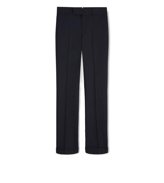 NAVY WOOL SPORT TROUSERS