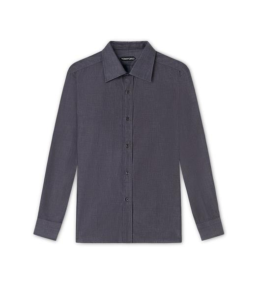 MICRO PINPOINT POINT COLLAR DAY SHIRT