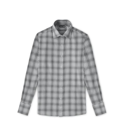 CLASSIC FIT HIGH COLLAR STAND SHIRT