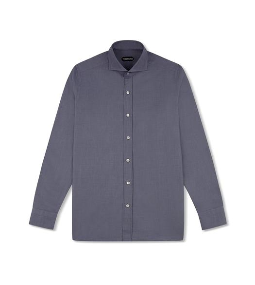 GREY SHARKSKIN TAILORED SHIRT