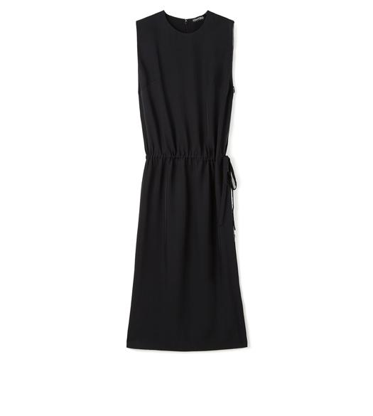 KNEE LENGTH SLEEVELESS DRESS WITH SIDE ZIP