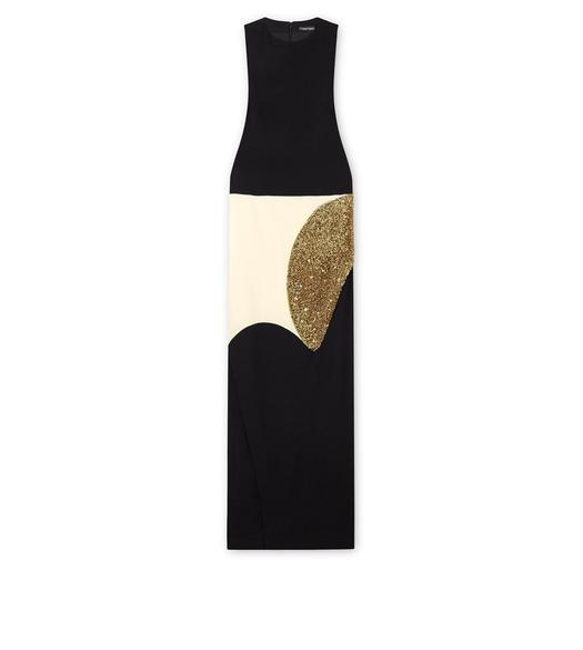 VISCOSE CADY SLEEVELESS COLUMN GOWN