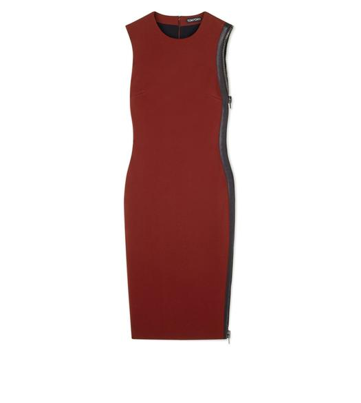 COMPACT JERSEY SIDE-ZIP DRESS
