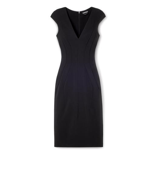 STRETCH VISCOSE SHORT SLEEVED JERSEY DAY DRESS