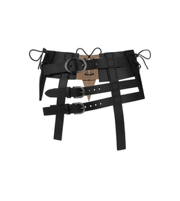 THREE BUCKLE WAIST BELT