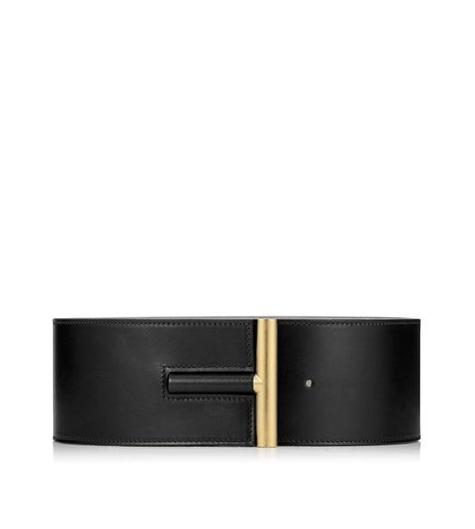 SMOOTH VACCHETTA T BAR WAIST BELT