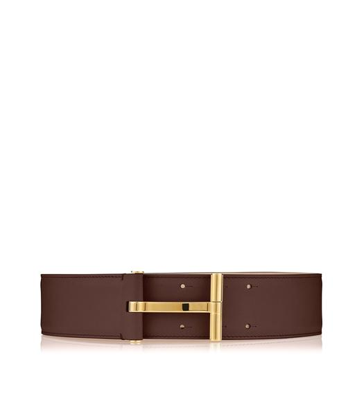 SMOOTH VACCHETTA T CLASP WAIST BELT