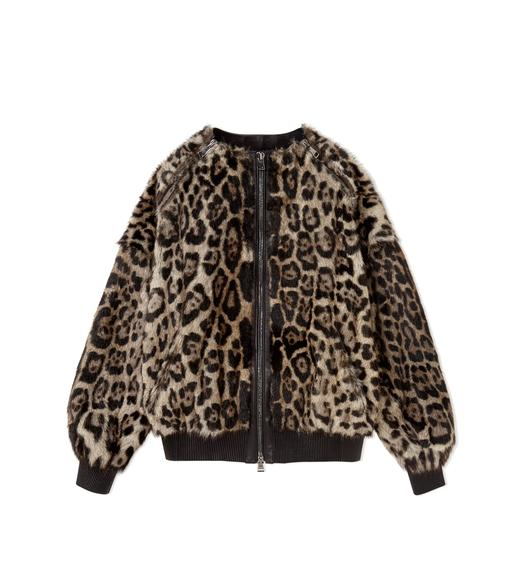 JAGUAR PRINTED OVERSIZED ZIP BOMBER JACKET
