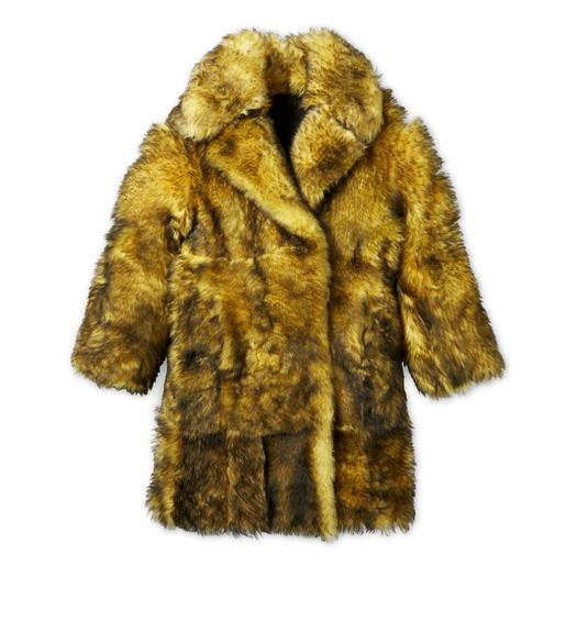 SHAGGY SHEARLING LONG COAT