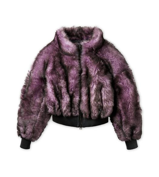 SHAGGY SHEARLING ZIP BOMBER JACKET