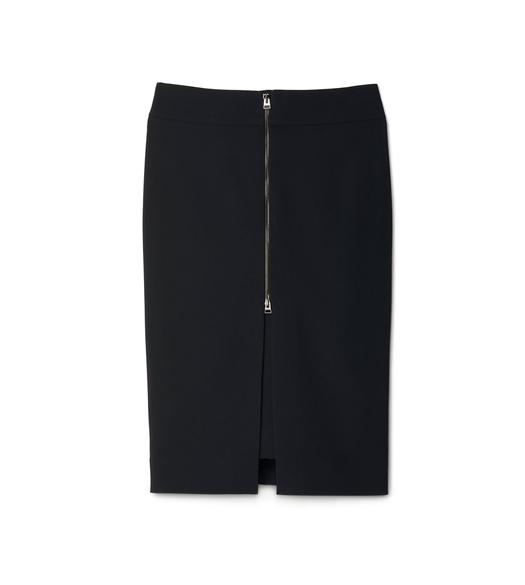 PENCIL SKIRT WITH CENTER FRONT ZIP