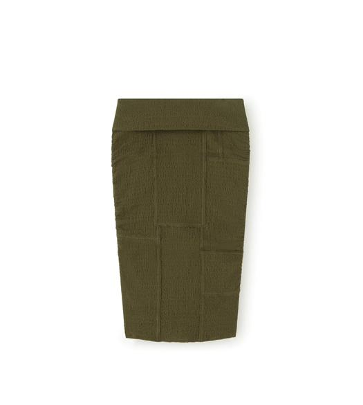 RAW CUT PENCIL SKIRT