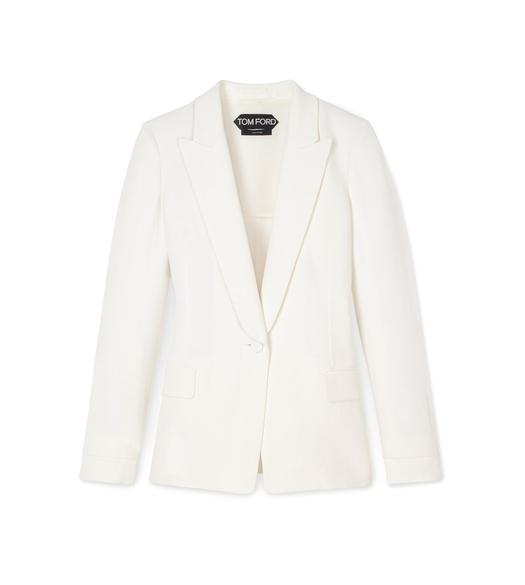 VISCOSE CANVAS PEAK LAPEL TUXEDO JACKET