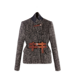 PADDED HIP TWEED JACKET