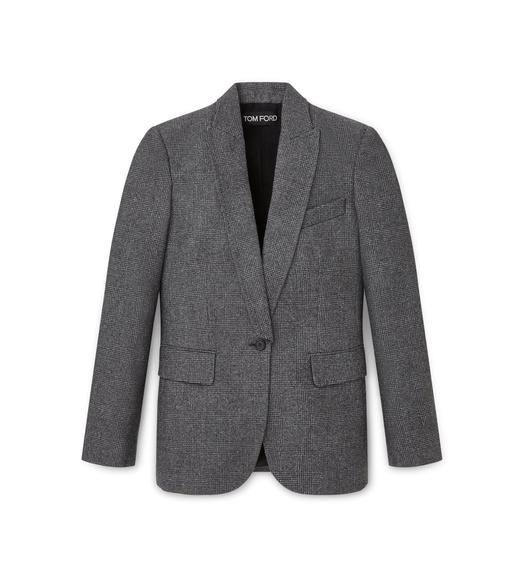 WOOL PRINCE OF WALES OVERSIZED JACKET