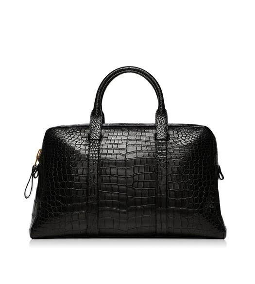 Buckley Alligator Flat Trapeze Briefcase