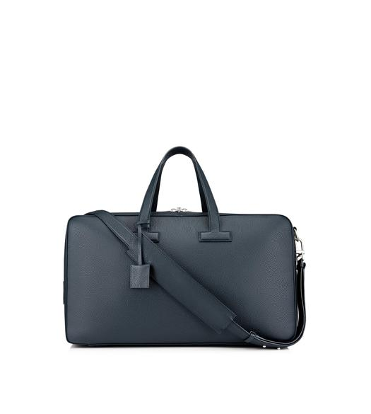 T LINE GRAINED LEATHER WEEKENDER