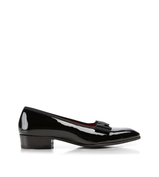 Gianni Patent Leather Low-Vamp Evening Pump