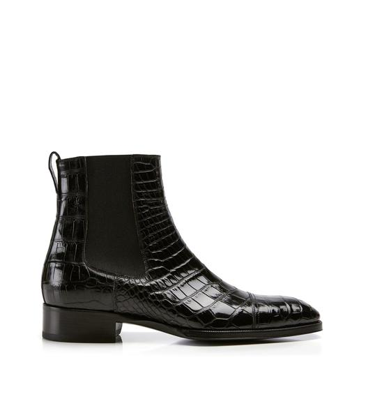 Gianni Alligator Cap Toe Chelsea Boot