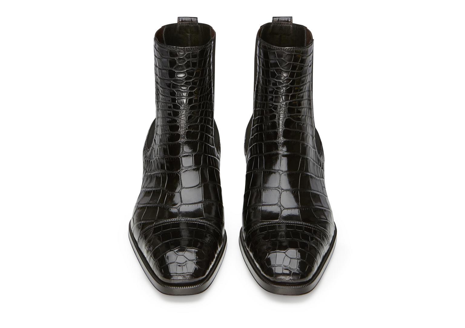 Gianni Alligator Cap Toe Chelsea Boot