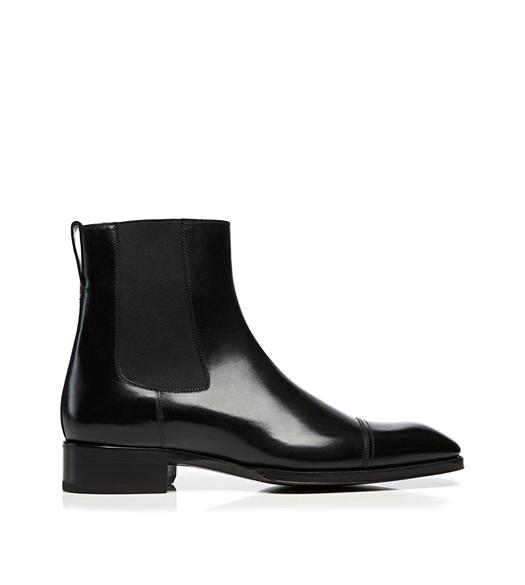 Gianni Leather Cap Toe Chelsea Boot