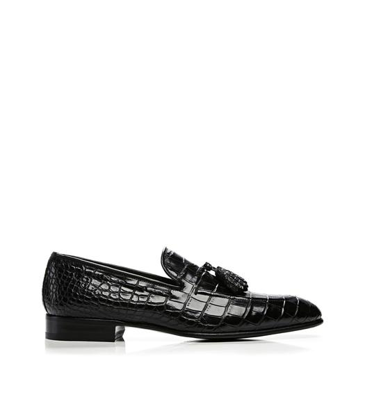 Adney Alligator Tassel Loafer
