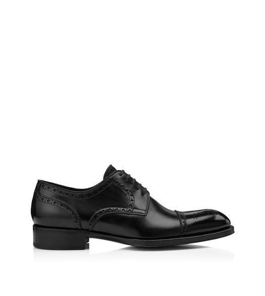 EDWARD CAP TOE BROGUE LACE UP