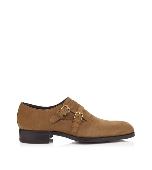EDWARD CROSSED DOUBLE MONK STRAP