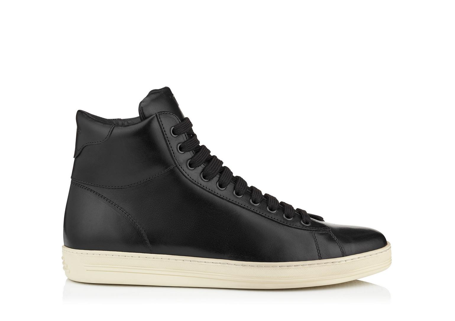 tom ford russel leather high top sneaker