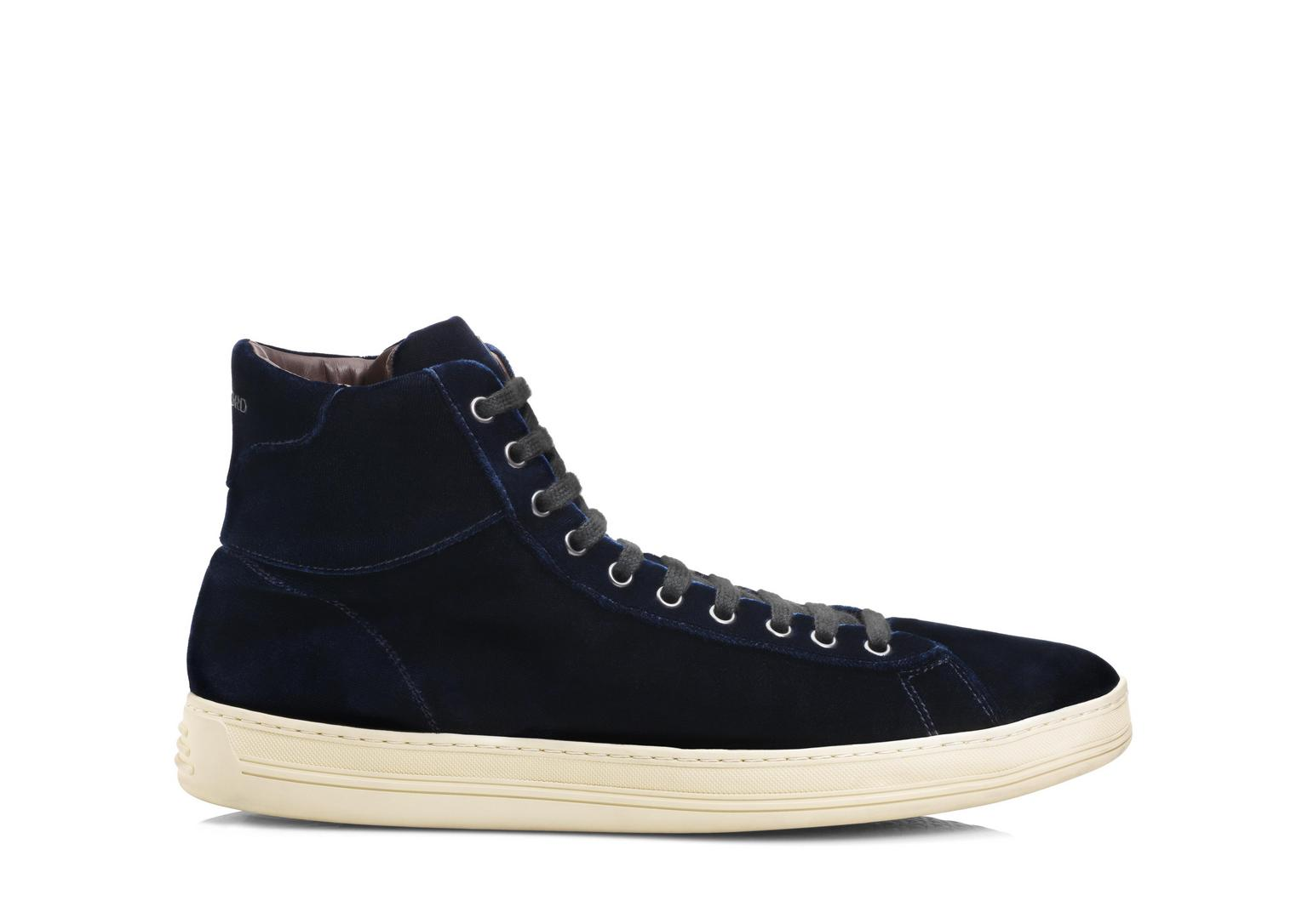 Russel Velvet High Top Sneaker