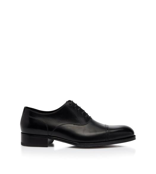 EDGAR LEATHER HALF BROGUE