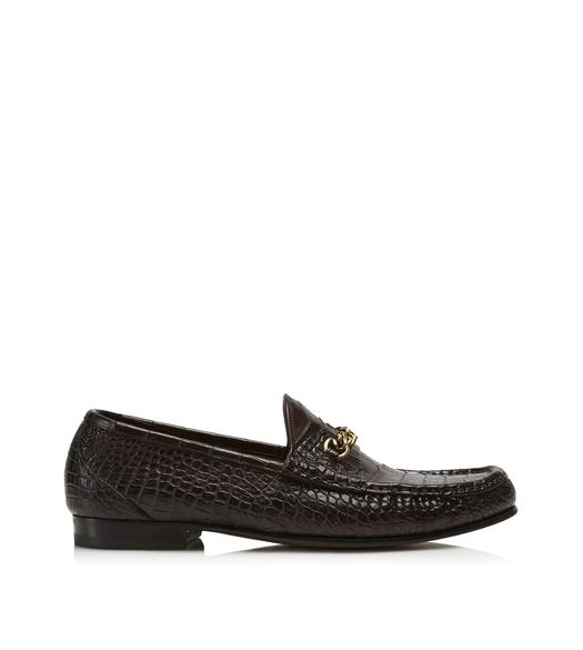 ALLIGATOR YORK CHAIN LOAFERS