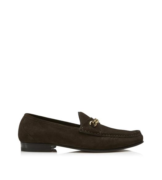 SUEDE YORK CHAIN LOAFERS