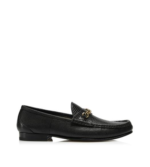 LIZARD YORK CHAIN LOAFERS