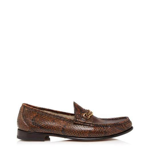 PYTHON YORK CHAIN LOAFERS