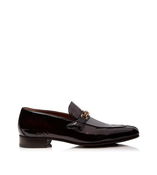 PATENT PEER CHAIN LOAFER