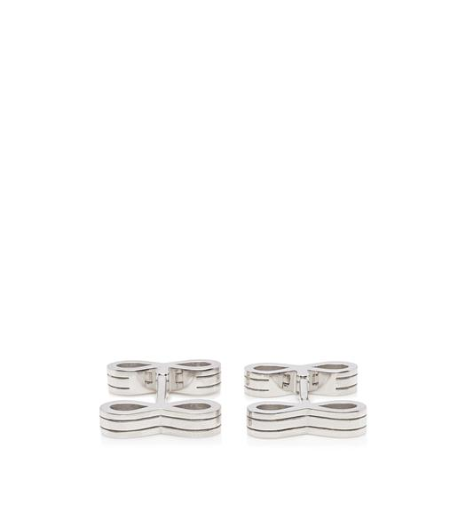 CURVE STRIPE CUFFLINKS