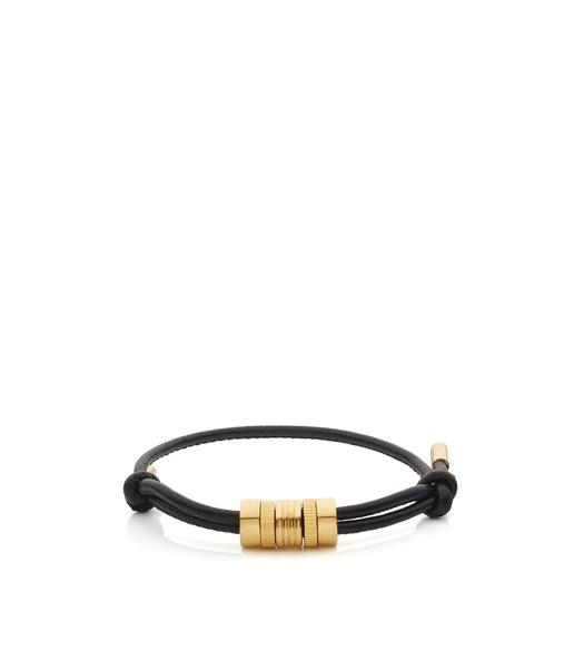 MULTI RING LEATHER BRACELET