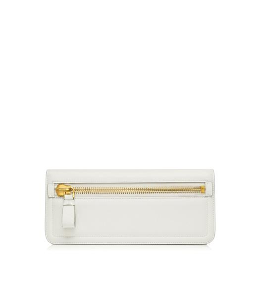 Jennifer Leather Zip Clutch