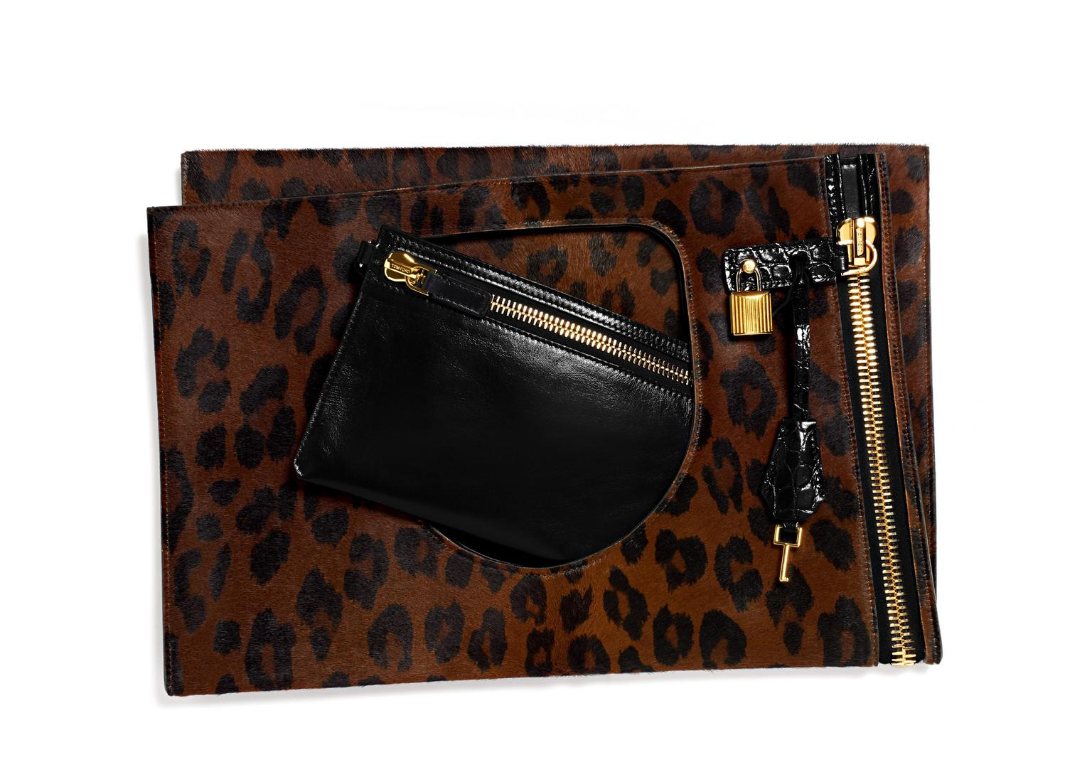 Alix Medium Panther Print Bag