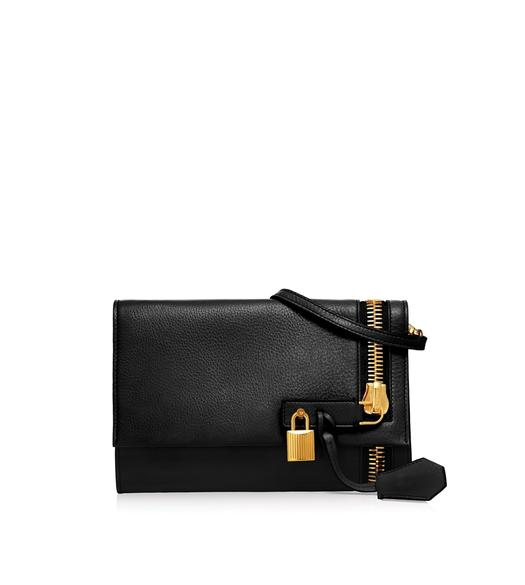 ALIX GRAINED LEATHER FLAP CLUTCH