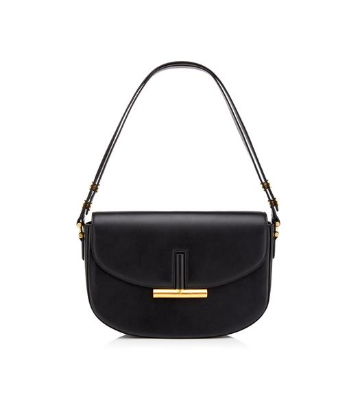 SMOOTH LEATHER SASHA SHOULDER BAG