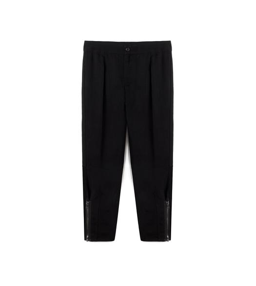 CROPPED CARGO PANT WITH ZIPS