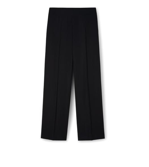 LIGHT TEXTURED VISCOSE WIDE-LEG TROUSERS
