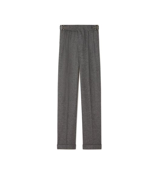 PRINCE OF WALES CHECK WIDE-LEG TROUSERS
